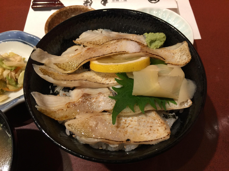 新潟市の鮨割烹 丸伊で、のど黒炙り丼を食べる