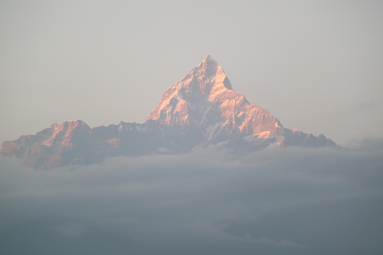 ネパール旅行記 2 ポカラから見るアンナプルナ連峰