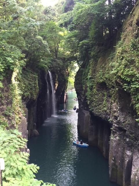 熊本空港から車で1時間半 高千穂観光してきました その1(白川水源、高千穂神社、高千穂峡)