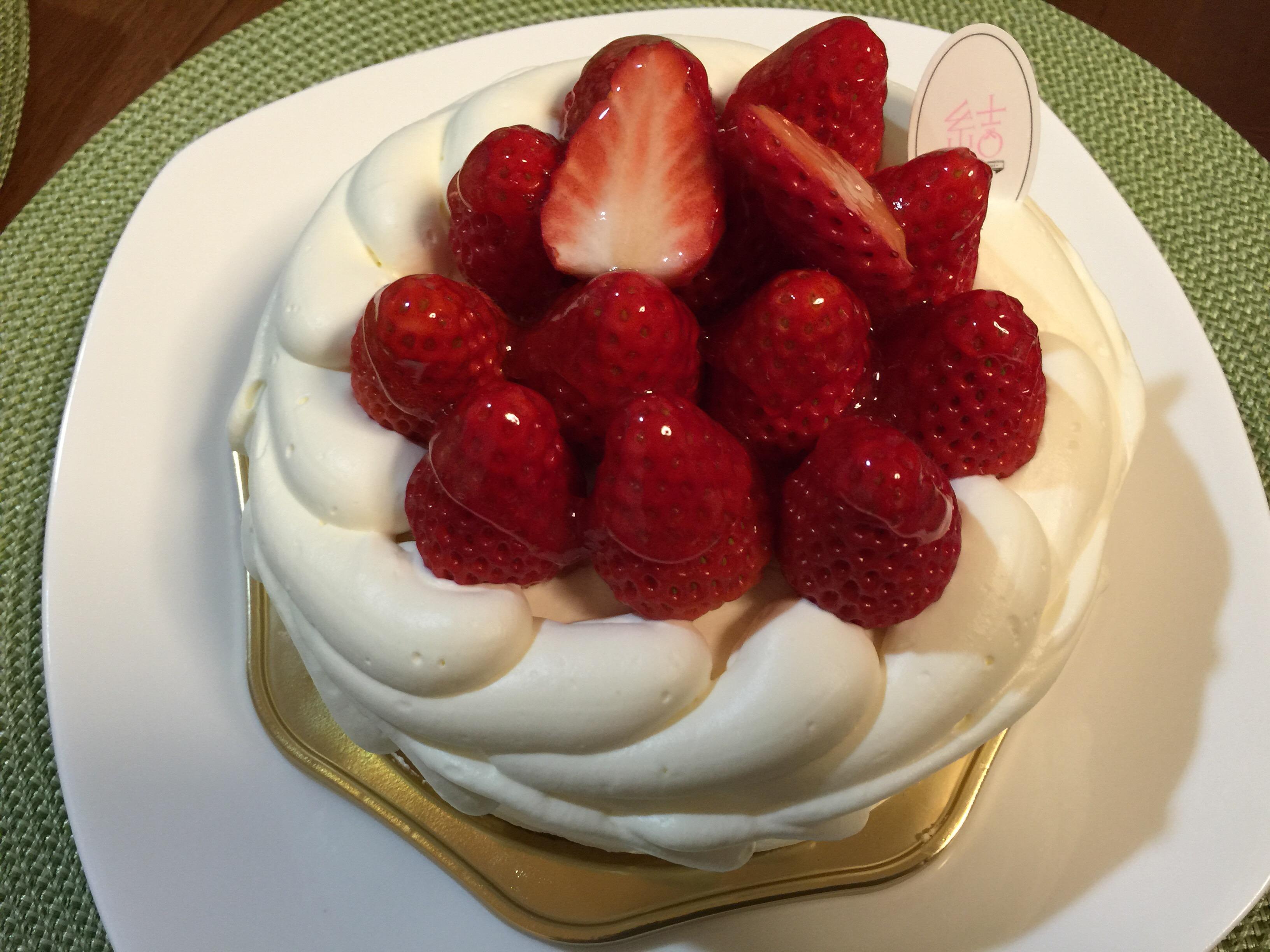 日進市のケーキ屋さん「パティスリー結(ゆい)」のバースデーケーキ
